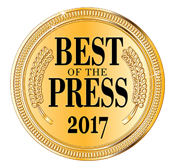 Accent Aesthetics won Best of the Press for 2017
